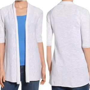 Eileen Fisher|Long Cardigan Kimono in Blue